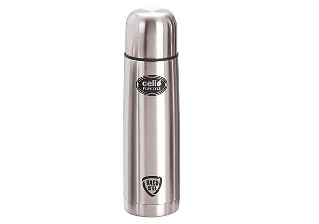Cello Flip Style Stainless Steel Flask with Thermal Jacket