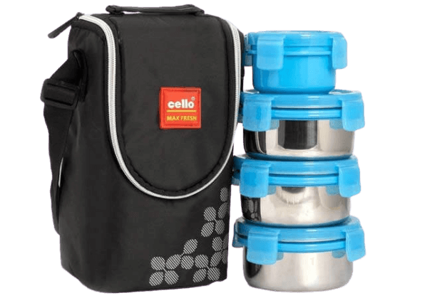 Cello-Max-Fresh-Click-Stainless-Steel-Lunch-Box-Set-4-Pieces