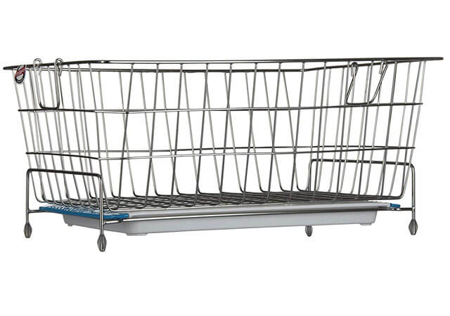 Embassy Stainless steel Dish Draining Basket-Kuda with Drip Tray, Rectangle